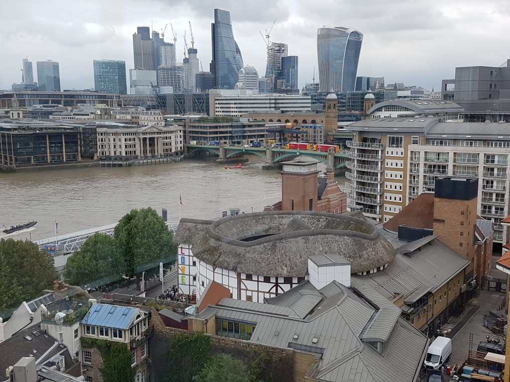 View from Tate Modern over Shakespeare's Globe and to the City