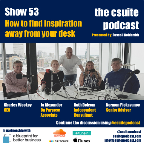 Csuite podcast how to find inspiration outside of your comfort zone malvernweather Choice Image