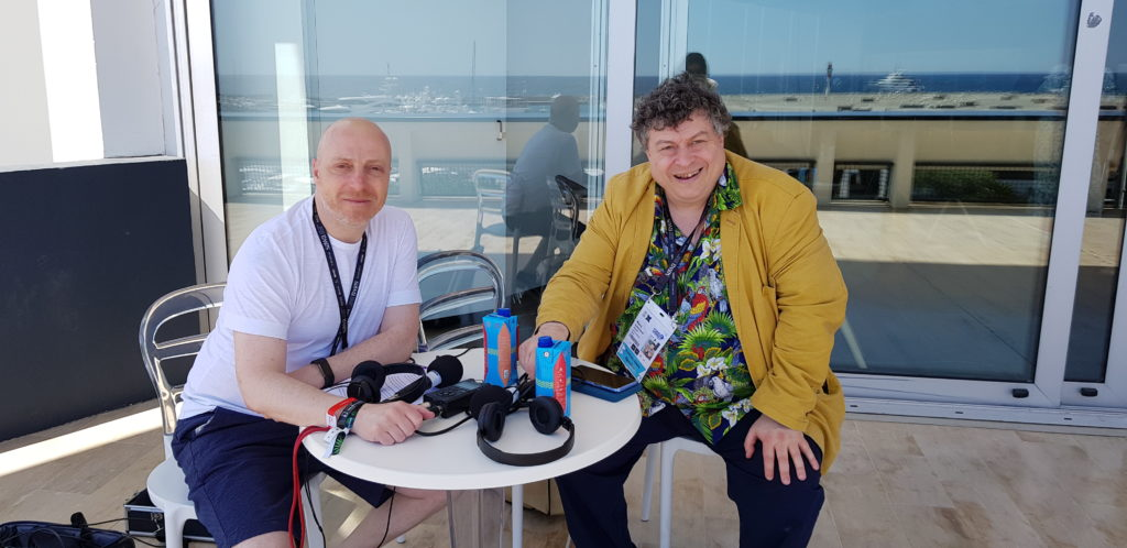 Russell Goldsmith (left) with Rory Sutherland at Cannes Lions