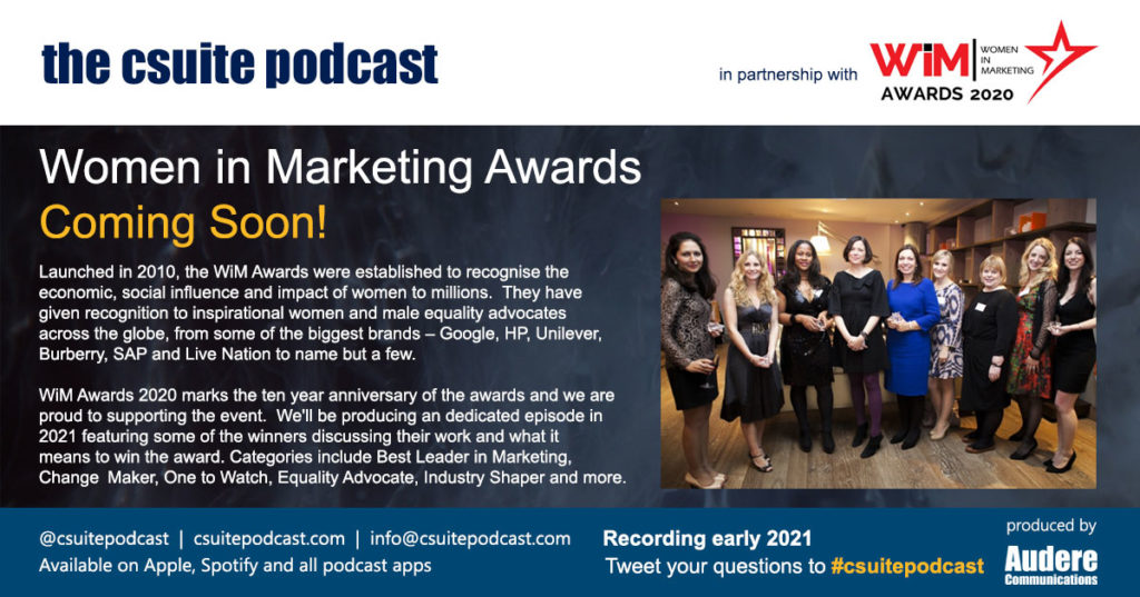 Women in marketing Awards - coming soon - 2021