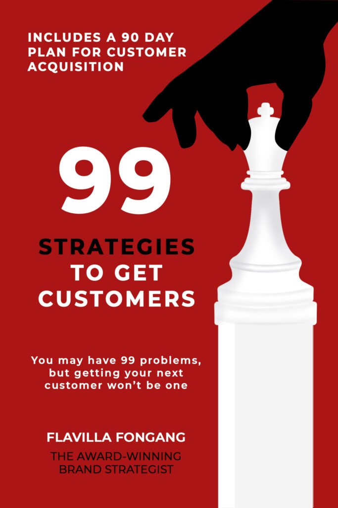 Book cover - 99 strategies to get customers